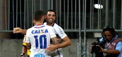 Bahia bate o América-MG e encosta na parte de cima da tabela da Série A