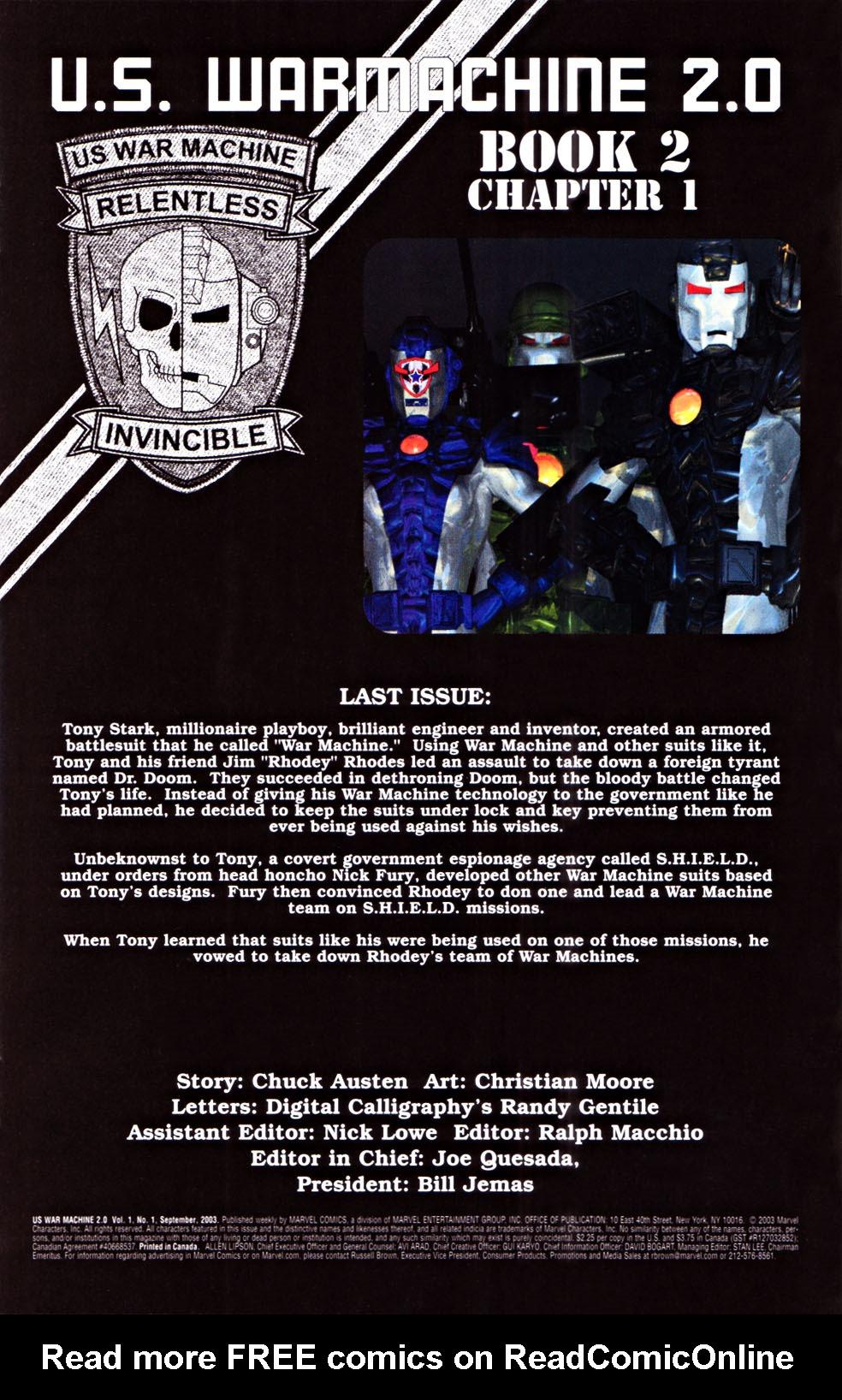 Read online U.S. War Machine 2.0 comic -  Issue #1 - 2