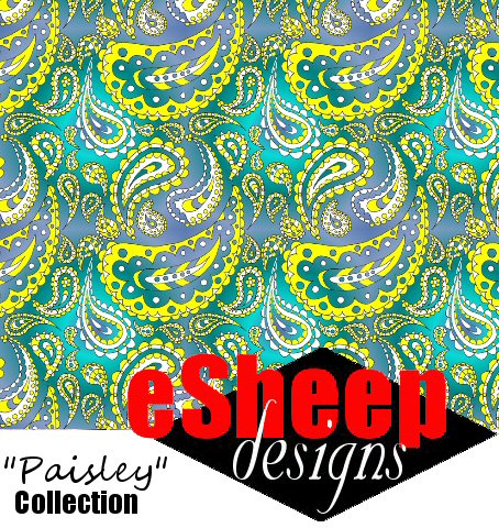 The Paisley Project Paisley Doodle Fabric by eSheep Designs