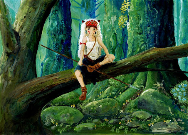 Mononoke-hime199772c4f princess mononoke 11x17 mini movie poster.