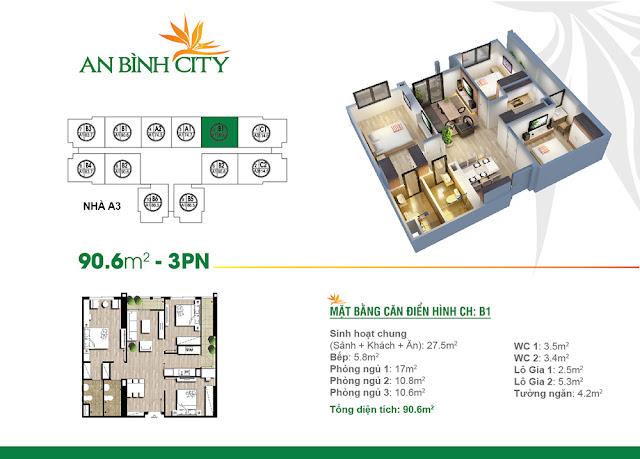 căn 90m2 chung cư An Bình City
