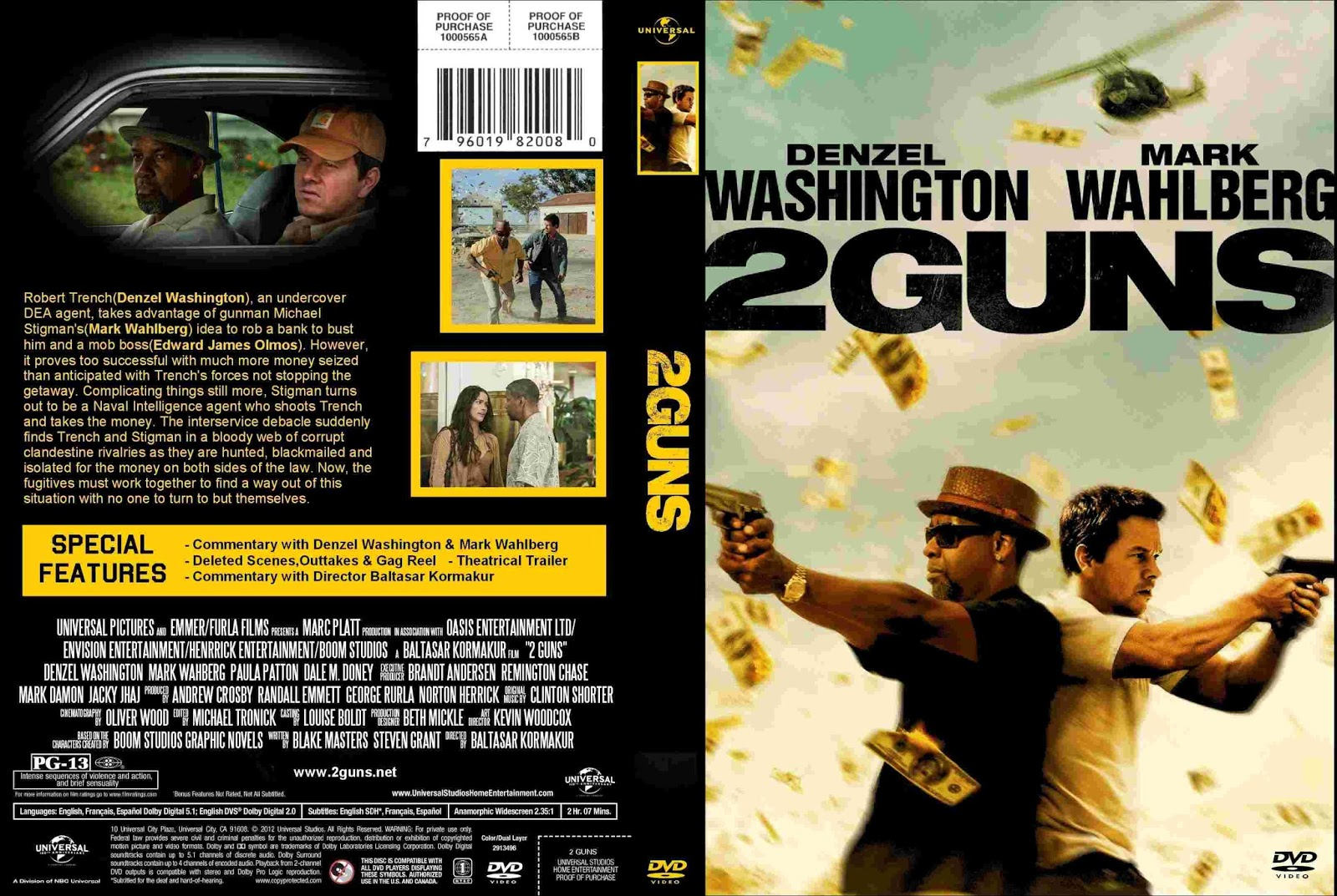 Walberg and Denzel, nigga, I brought two.. – Conceited vs ...2 Guns Blu Ray Cover