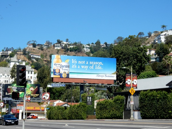 Corona not a season way of life billboard