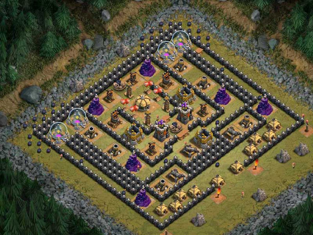 Goblin Base Clash of Clans Sherbet Towers