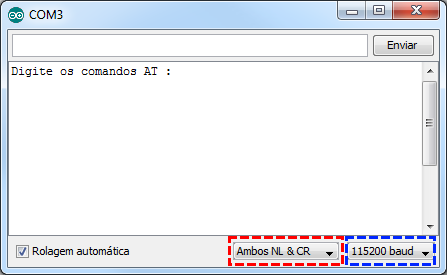 Serial monitor - Comandos AT modulo bluetooth