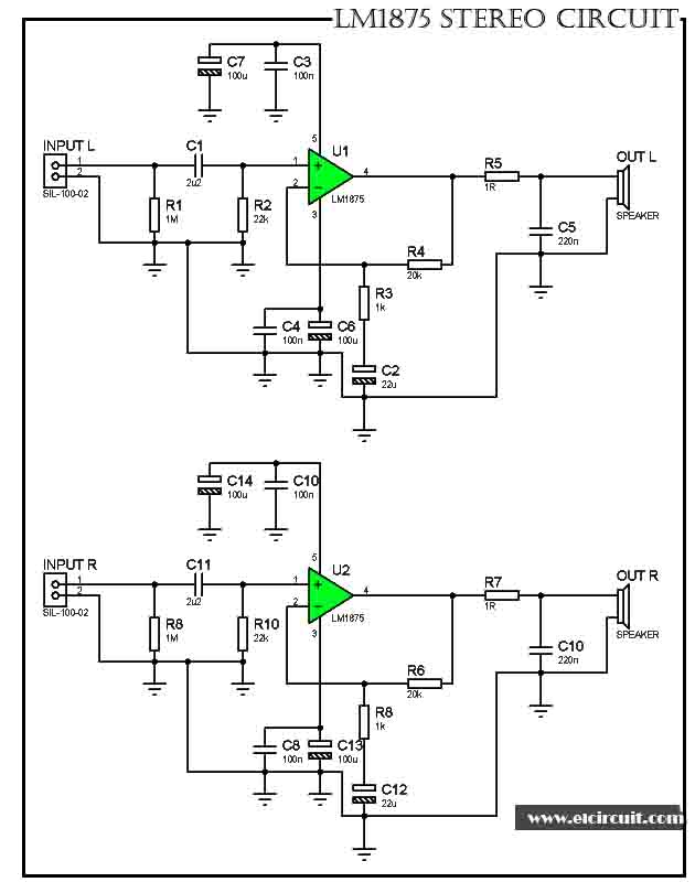 subwoofer amplifier circuit electronic components