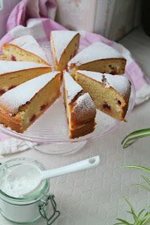 cytrynowo - truskawkowe ciasto