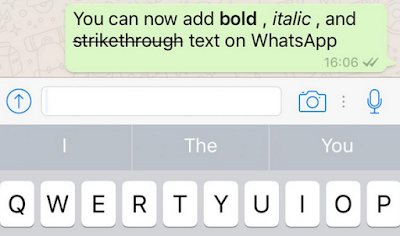 Membuat Tulisan Tebal, Warna, Terbalik, Miring, Teks Dicoret di WA (WhatsApp)