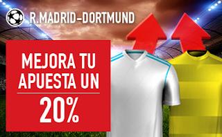 sportium promocion champions Real Madrid vs Dortmund 6 diciembre