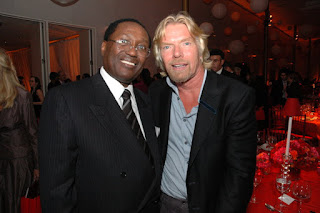 Chris Kirubi and Richard Branson. PHOTO | FILE