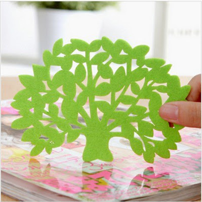 Tree Shape Flat Coaster