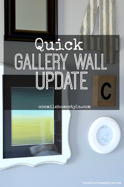 Quick No-Cost Gallery Wall Update - One Mile Home Style