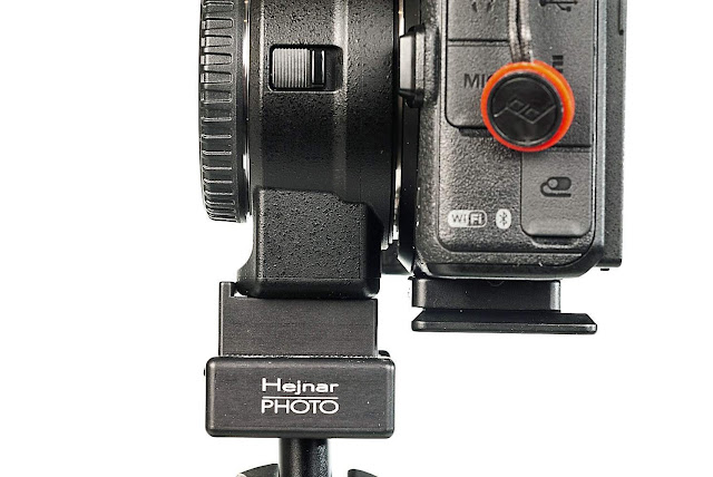 Hejnar D044 and D045 QR plates on Nikon Z mirrorless camera side view