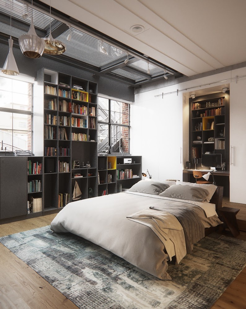 new-york-city-industrial-style-bedroom