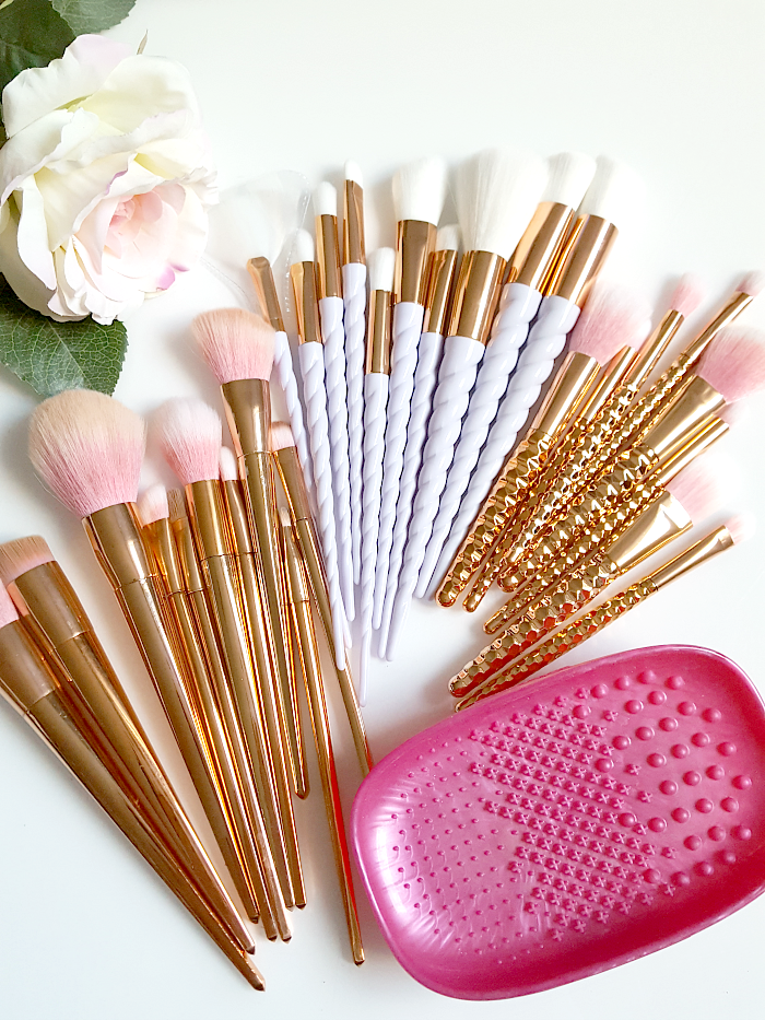 Review: Rose Gold & Unicorn Makeup Pinsel & Real Techniques Brush Cleansing Palette