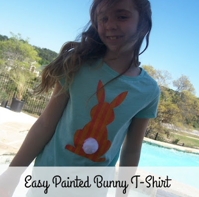 Painted Striped Bunny T-shirt by 504 Main
