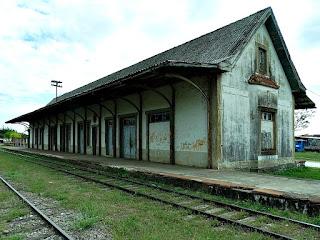 Estação Ferroviária de Restinga Seca, RS - Vista lateral da estação