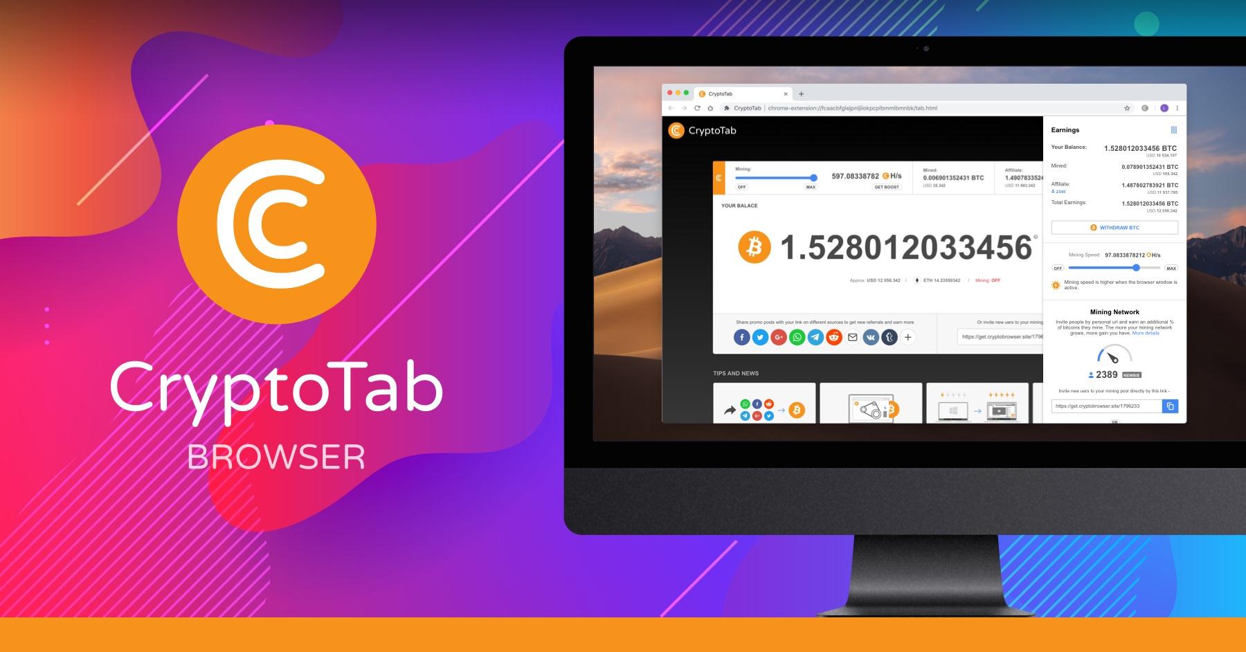 CryptoTab, La méthode la plus simple pour gagner des Bitcoins gratuitement!