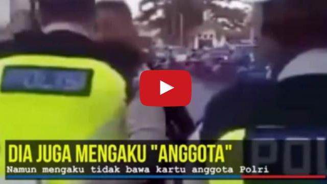 VIDEO: Hendak Ditilang, Pria Ini Mengaku Anggota Dan Menyebut 'Monyet' Pada Petugas Kepolisian