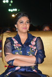 Actress Keerthi Suresh Stills in Blue Long Dress at Nenu Local Audio Launch  0039.JPG