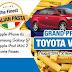 Aug1-Nov30: SHRIRO The Finest Italian Pasta Contest: Win Toyota Vios, iPhone 6s, Galaxy S7, iPad Mini 2, Movie Passes