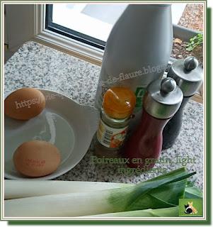 Vie quotidienne de FLaure : Poireaux en gratin, light