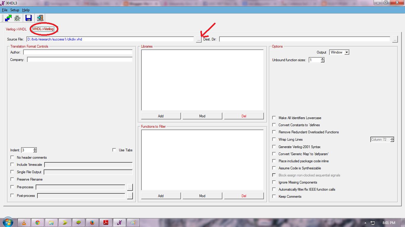 Vlsi Verilog : VHDL to VIRILOG and VERILOG to VHDL