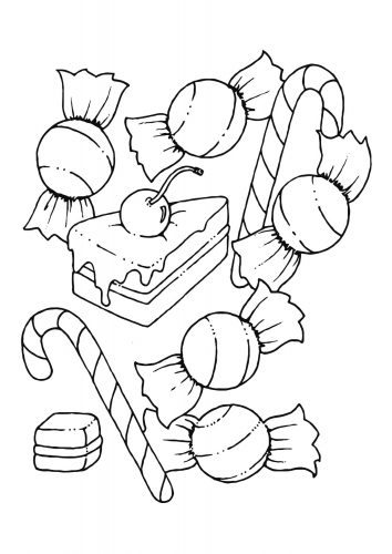 Free Candies Coloring Page, Download Free Clip Art, Free Clip Art ...   500x354