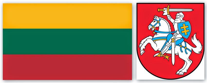 Флаг и герб Литвы