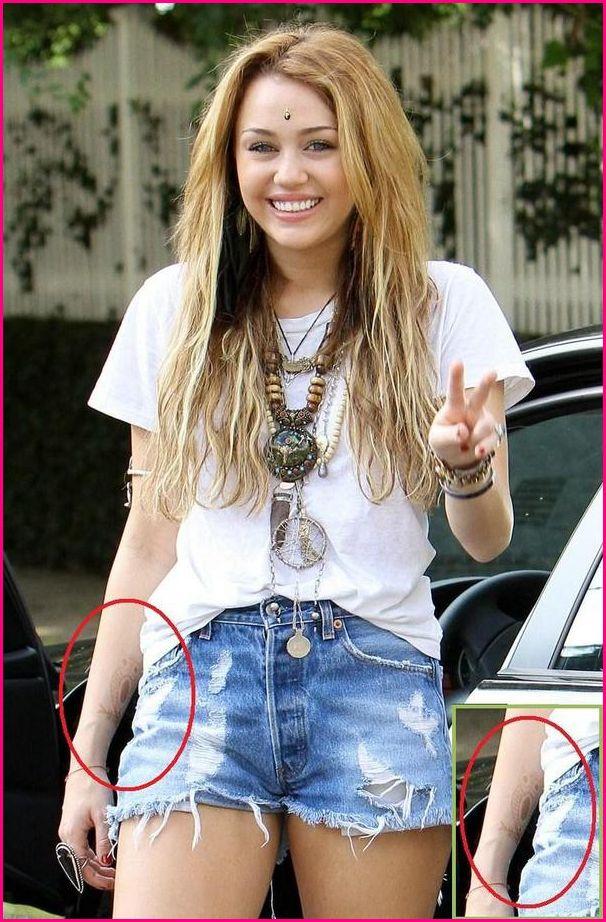 Miley cyrus tattoo upskirt photo