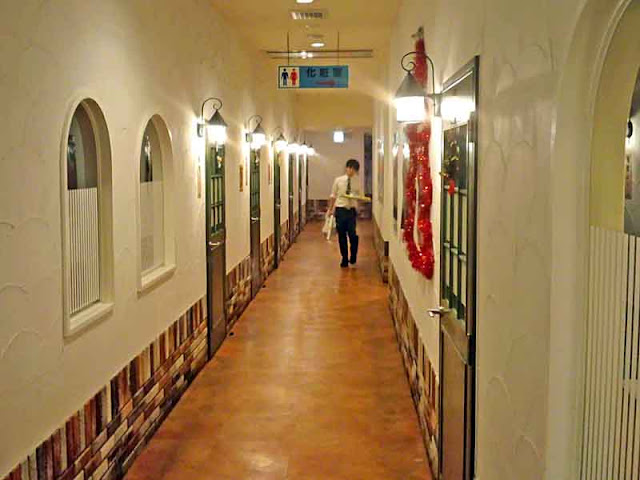 hallway, staff, rooms, toilet location