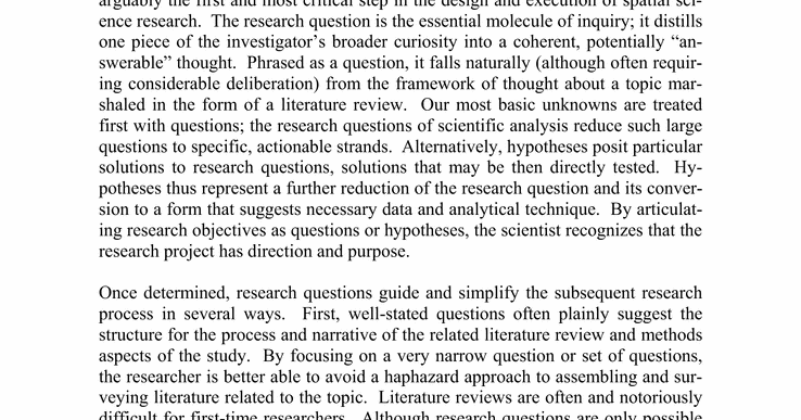 Types of thesis research methods