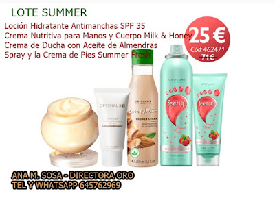 lote oriflame summer