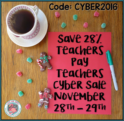 Teachers Pay Teachers Cyber Sale November 28th & 29th