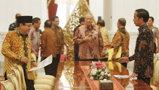 Presiden terima Hasil Pemeriksaan Semester 1 dari Ketua BPK