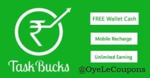 Taskbucks earn free recharge