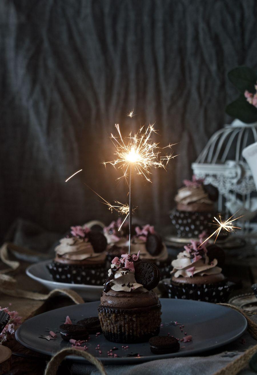 Cupcakes cheesecake de chocolate y oreo