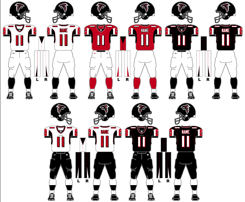 f42dfa3e The Gridiron Uniform Database: The Atlanta Falcons Uniform History