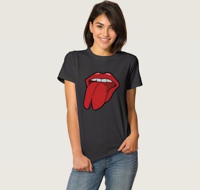 Halkaistu kieli pop-taide paita