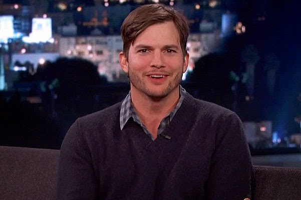 Ashton Kutcher on the show Jimmy Kimmel