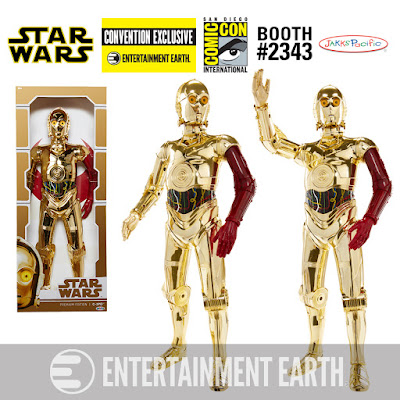 "San Diego Comic-Con 2016 Exclusive Star Wars: The Force Awakens Vac-Metal C-3PO 18"" Big Figs Action Figure by Jakks Pacific x Entertainment Earth"