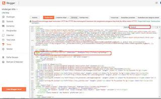 Penerapan kode efek loading blog