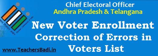 Voter Enrollment,Correction of Errors,Voters List