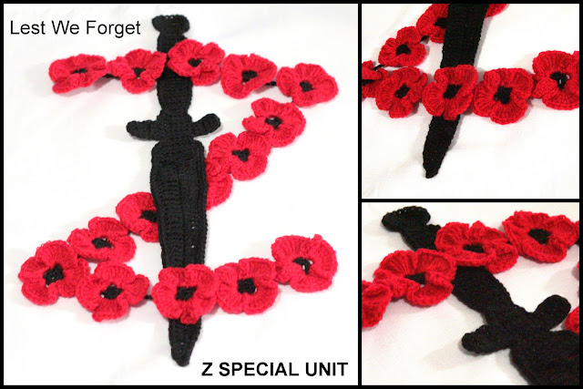 Z Special Unit crochet tribute #LestWeForget