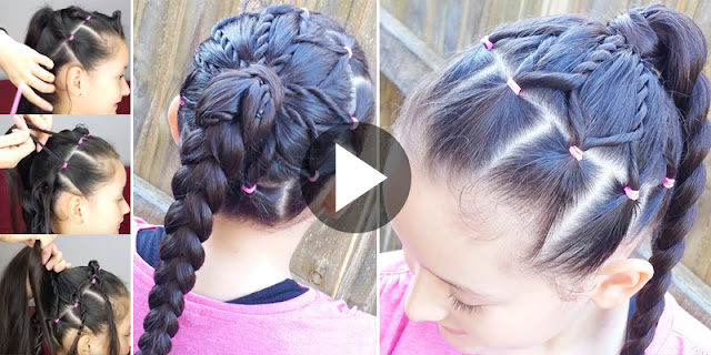 Learn - How To Create Flower Ponytail Hairstyle, See Tutorial