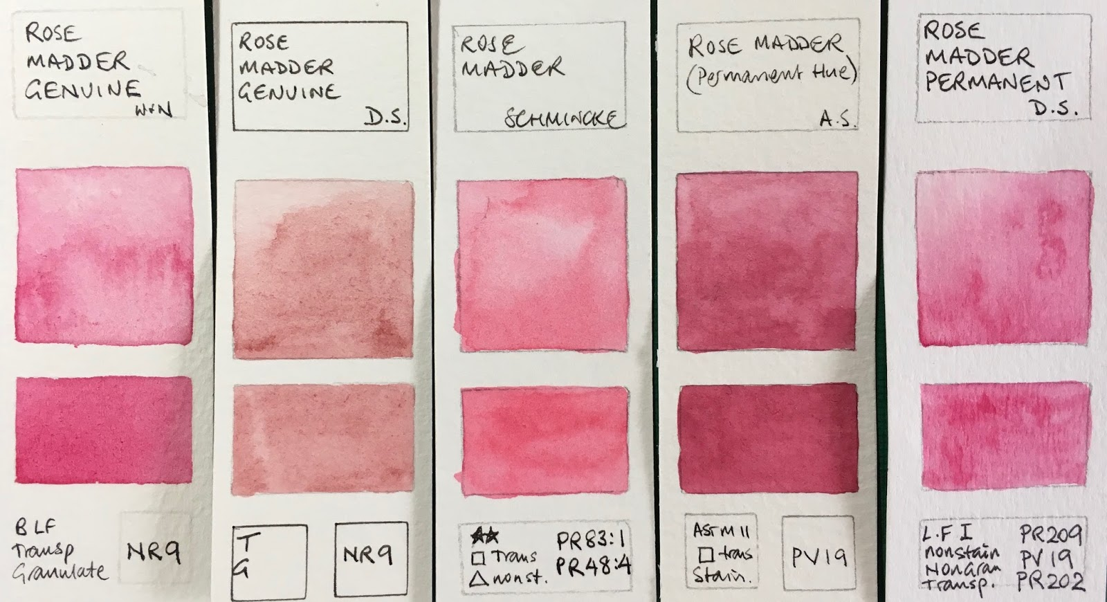 When You See The Range Of Hue In Genuine NR9 Between WN And DS Its Easy To Why Hues Also Vary Rose Madder Was Used For Portraiture As