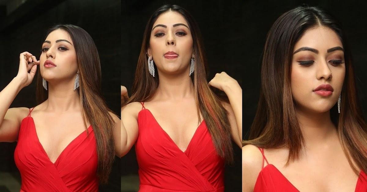 actress anu emmanuel hot cleavage show at oxygen telugu