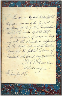 "Inscription by A. Greely in his copy of ""Arctic Voyages"""