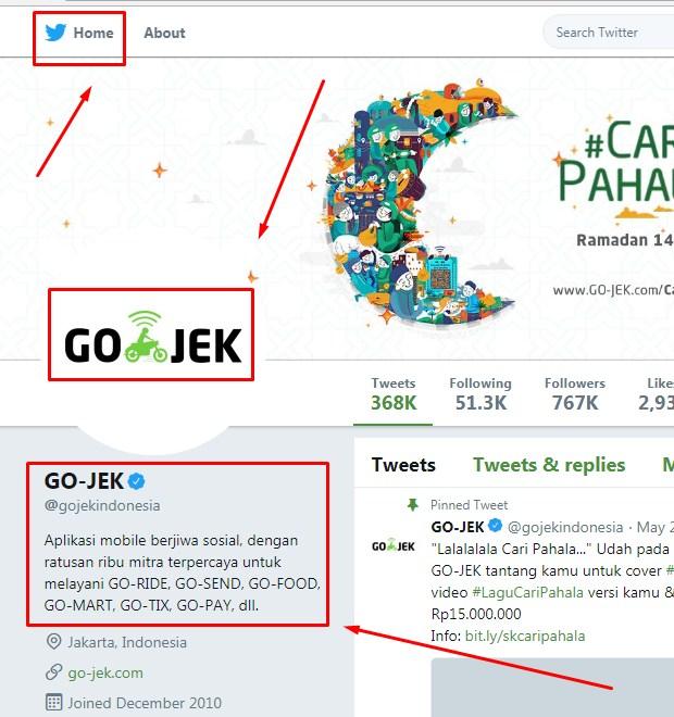 Akun Customer Service Media Sosial Gojek ii