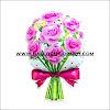 Balon Foil Hand Bouquet Bunga Mawar Pink